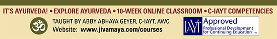 Courses Offered by Jivamaya Yoga Therapy